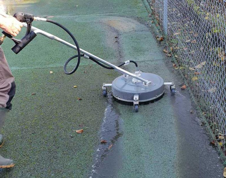 Tennis Court Cleaning moss clearing