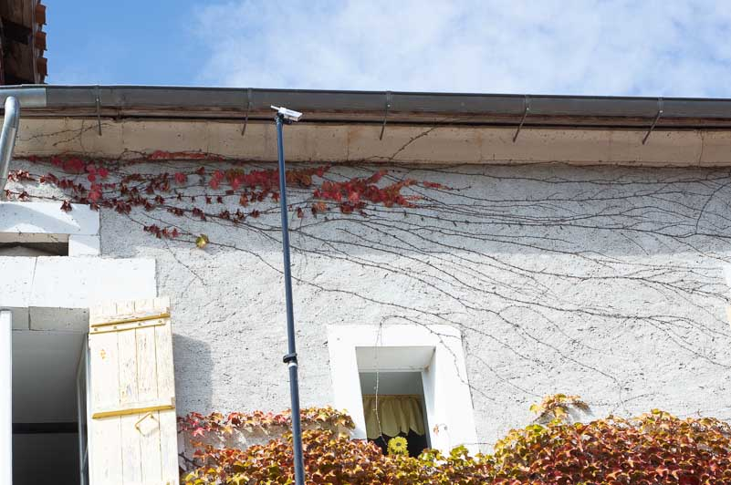 Gutter inspection and cleaning SkyVac Camera